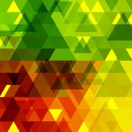 abstract color transparency triangle pattern background