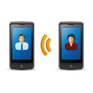 Mobile communication and cloud concept