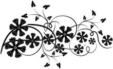 Decorative floral element for design