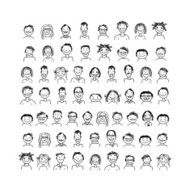 People icons, sketch for your design