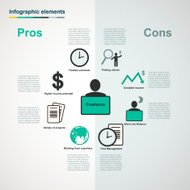 Vector freelance infographic elements