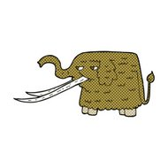 comic cartoon woolly mammoth