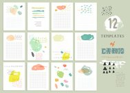 BIG Collection of 12 cute universal card or invitations.