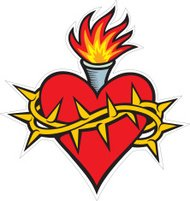 Heart, Torch &  Barbed wire