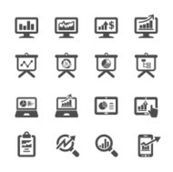 infographic and chart icon set 4, vector eps10