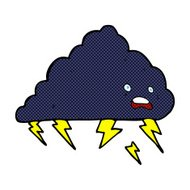 comic cartoon thundercloud