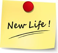new life yellow note