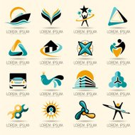 Logo element and vector Abstract web Icon