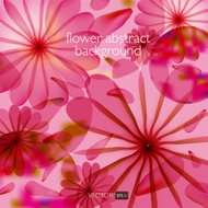 Abstract colorful background with flowers.