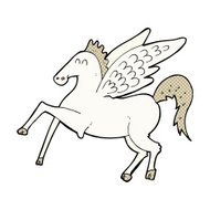 comic cartoon pegasus