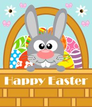 Happy Easter background with rabbit