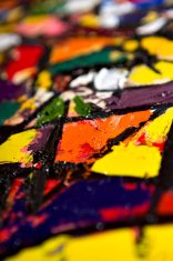 Defocused Oilify. Abstract oil painting background