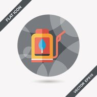Environmental protection concept flat icon with long shadow