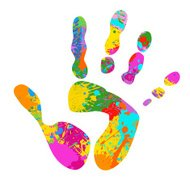 colourful handprint