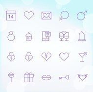 20 Trendy Thin Icons for Valentines Day 1