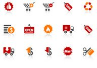 shopping icons | Alto series