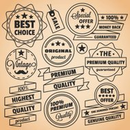 Premium quality vintage labels and vintage badges set
