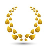 Vector golden laurel wreath for winner
