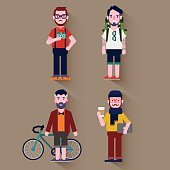 Hipster/character design