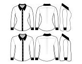 Blank shirt with long sleeves template f