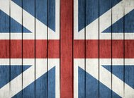 Wooden Flag Of Great Britain