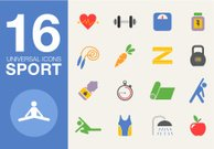 Sport and healthy life concept flat icon set of jogging