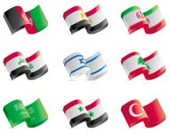 Chunky Middle Eastern Flags