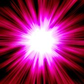 Bright red purple starburst.
