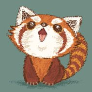 Red Panda happy