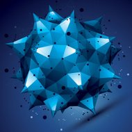 3D vector abstract design object, polygonal complicated figure
