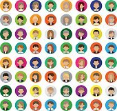 business people avatar round icons