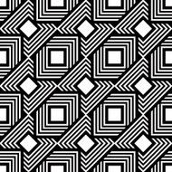Seamless black and white pattern, vector stripes geometric