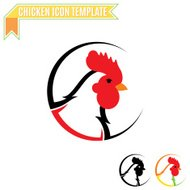 Chicken Logo, Trade Sign, Icon Template