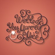 Vector Will You Marry Me Inscription, Wedding