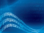 music notes - blue abstract vector background