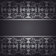 Black baroque  background flowers