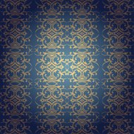 Floral baroque seamless background