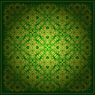 Abstract green vector baroque background