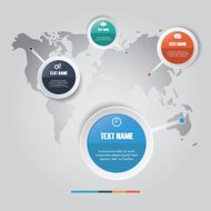 Vector of marketing concept infographic element