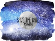 Watercolor outer space background