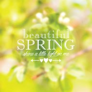 Typographical illustration with spring background