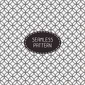 Geometric line seamless pattern with circle. Paper for scrapbook. Background.