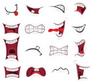 Comic Mouth Set