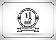 Linear Vector of Rock n Roll Hand Icon Design