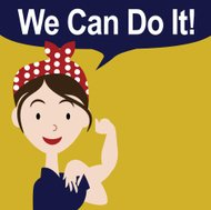 We can do it vector affiche EPS 10 dessin animé