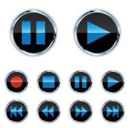 Blue Ice Music Buttons