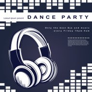 Vector party poster. Night club poster