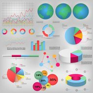 Info graphics circle style Vector illustration