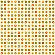 Vintage seamless background of round elements dots