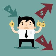 Business Man Income and Expense personal finance